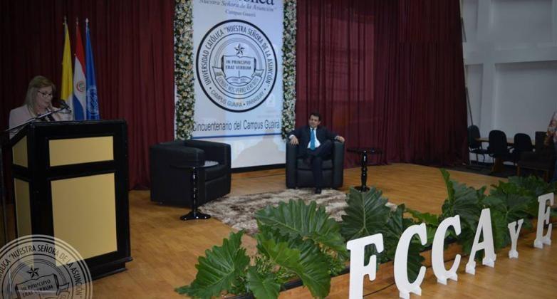 """Se realizó el """"II Congreso Internacional de Contabilidad y Economía"""" en Campus Guairá Guairá"""