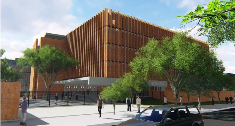 Se instaló la piedra fundamental de la Facultad de Ciencias de la Salud