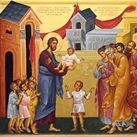 Aceptar el reino de Dios como un niño para entrar en él