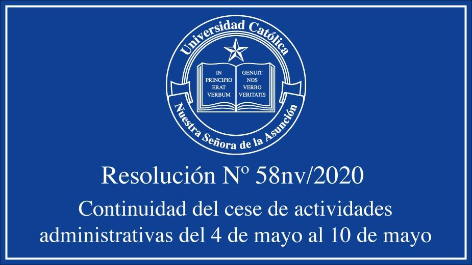 Continuidad del cese de actividades administrativas en la Universidad Católica