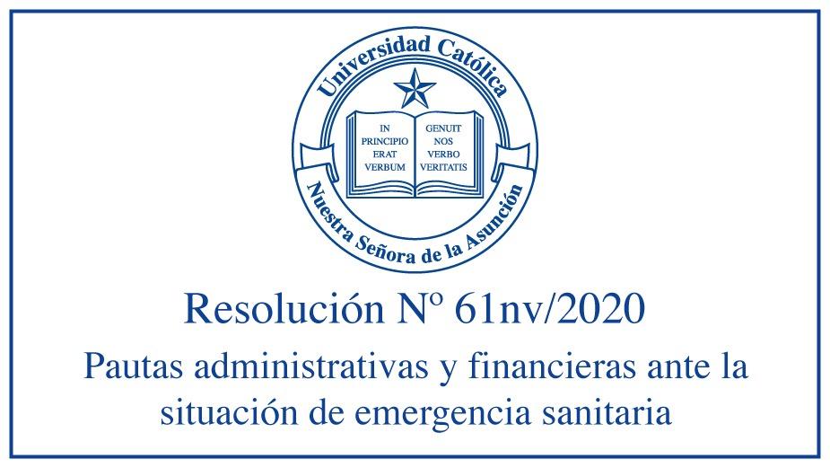Pautas administrativas y financieras a ser adoptadas ante la situación de emergencia sanitaria