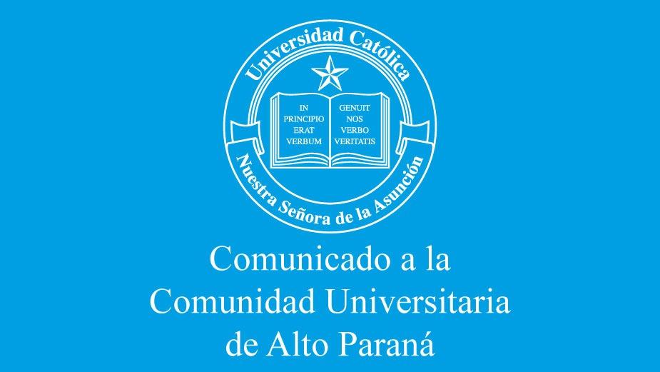 Comunicado a la comunidad educativa del Alto Paraná