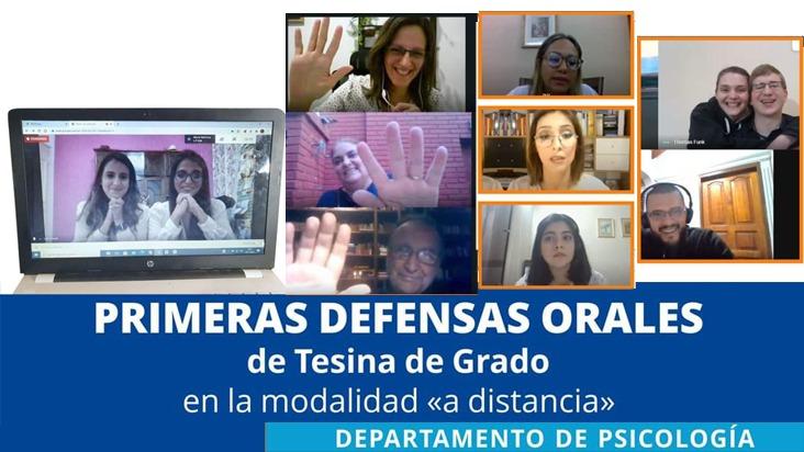 Defensas orales de tesina de grado en la modalidad a distancia en la UC