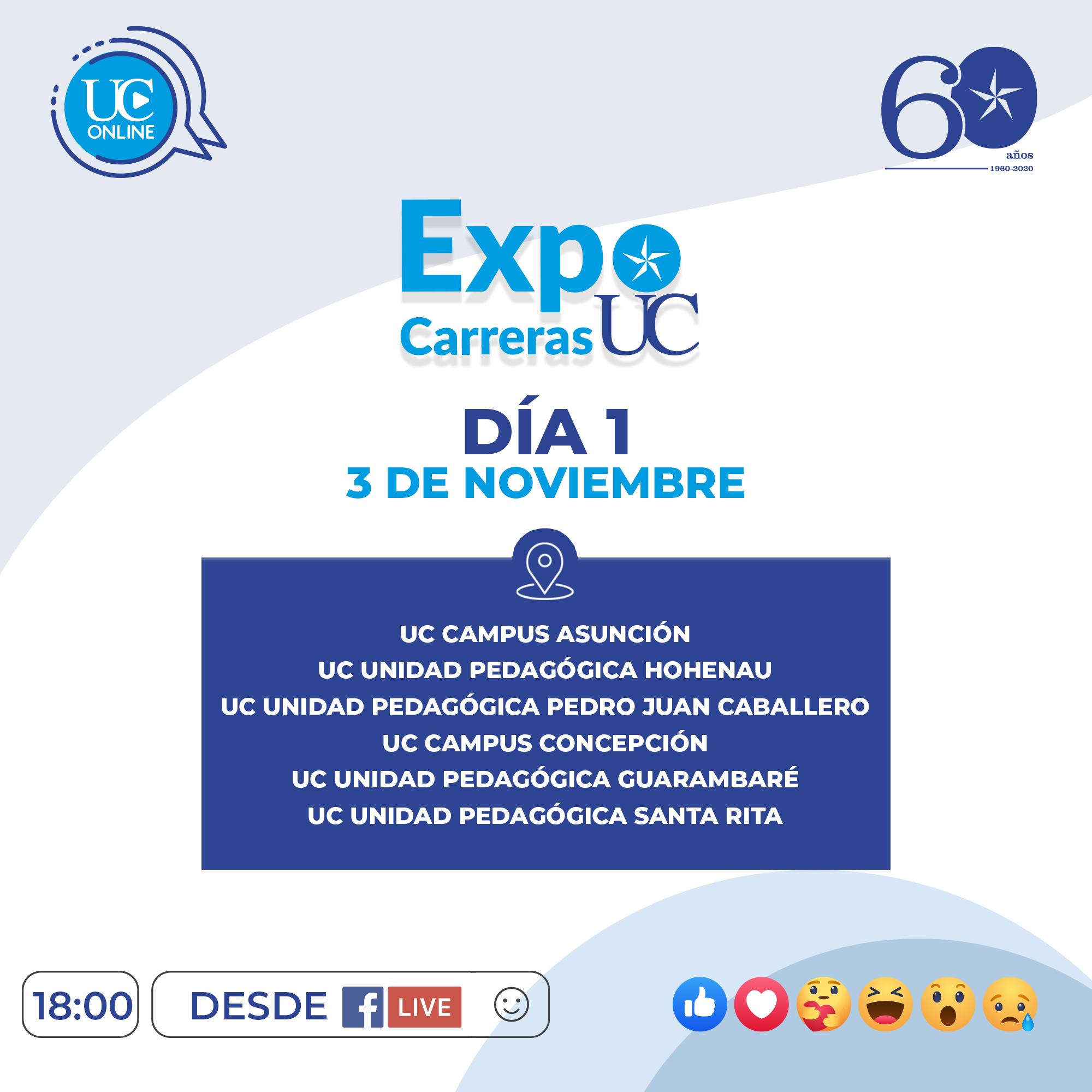 ExpoCarrerasUC - Programa Día 1