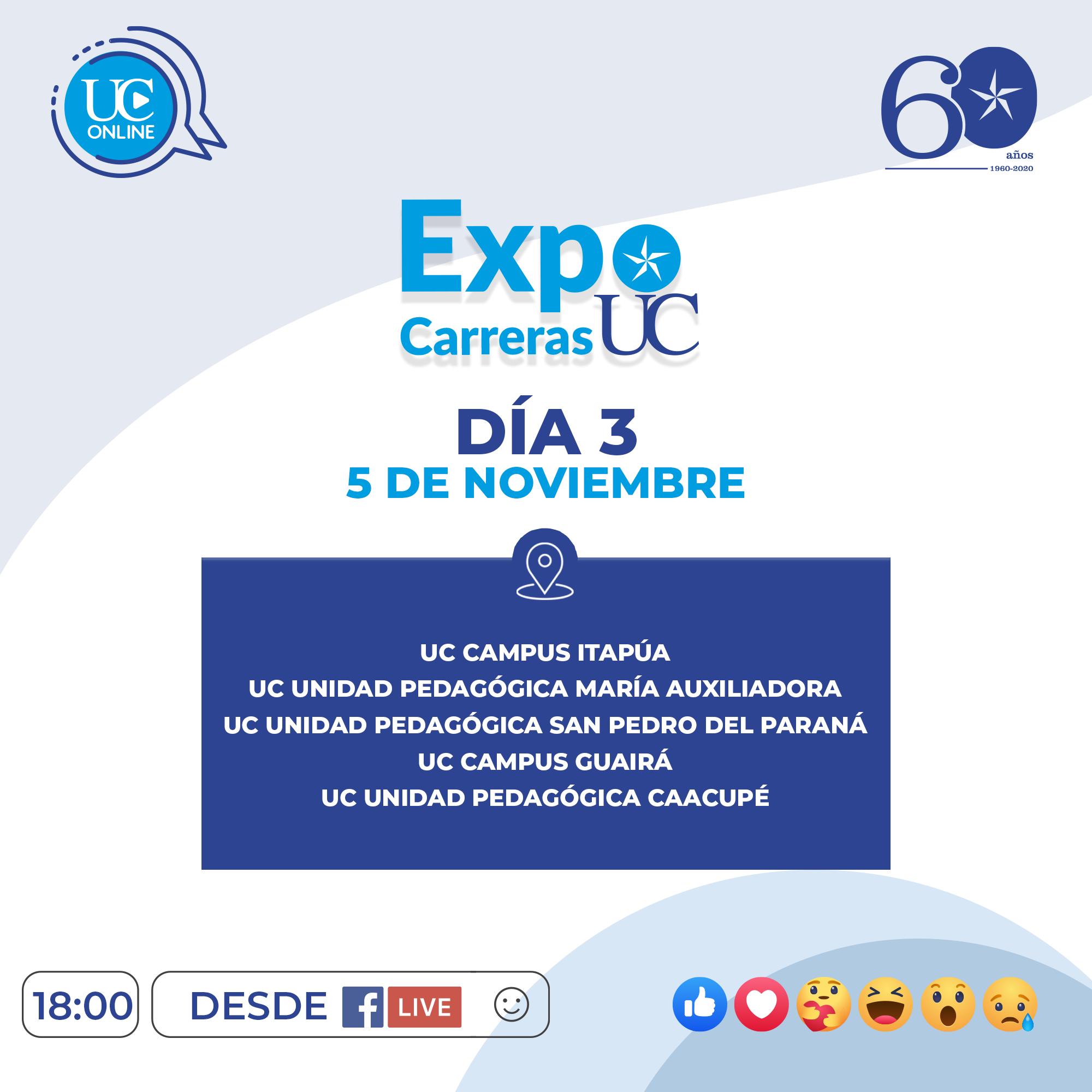 ExpoCarrerasUC - Programa Día 3