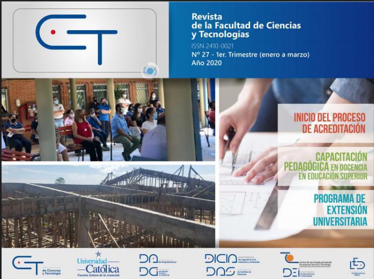 Revista CyT Edición N° 27 de la Facultad de Ciencias y Tecnología de la UC